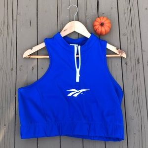 Reebok XL workout quarter zip sports bra / crop